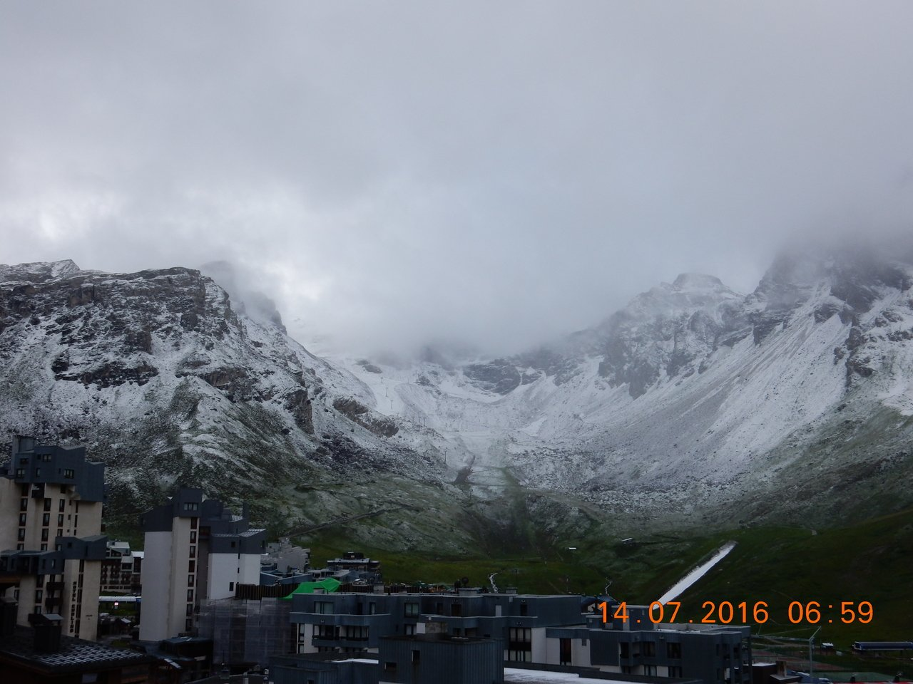 14 de julio amanece en Val Claret