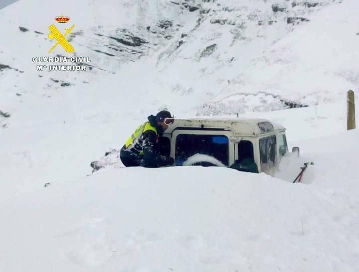 Avalancha de nieve en Lunada