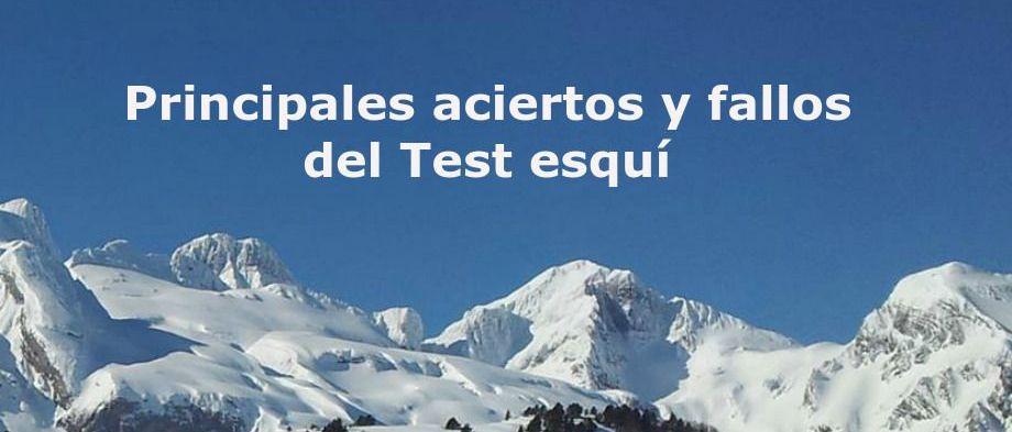Principales aciertos y fallos en Test ¿Cuánto sabes de esquí?