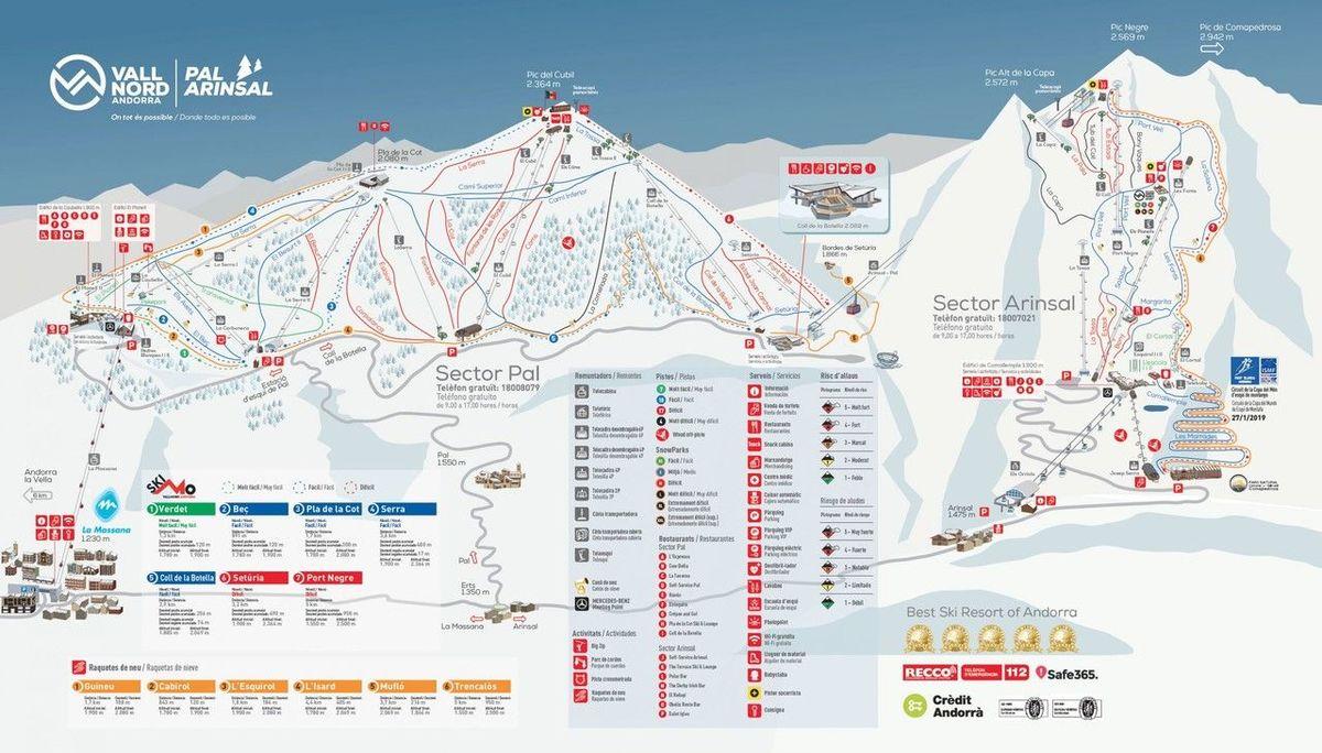 mapa pistas Vallnord