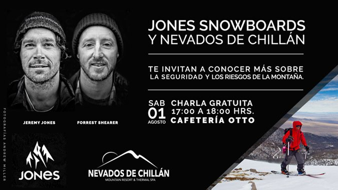 Jeremy Jones dará charla en Nevados de Chillán