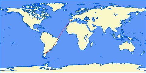 Ruta aerea MAdrid-Buenos Aires-Bariloche border=