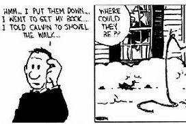 Calvin y la nieve