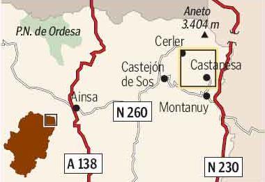 Mapa de la zona de Cerler