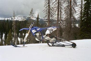 Moto Enduro de Nieve