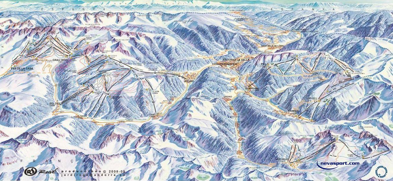 Pistas Ski Andorra Plano de Pistas de Ski Andorra