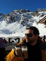 rolling skier