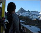 Subida al Tebarray con esquís y final inesperado...