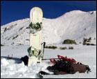 Una galleta y un tubo -snowboard de montaña-